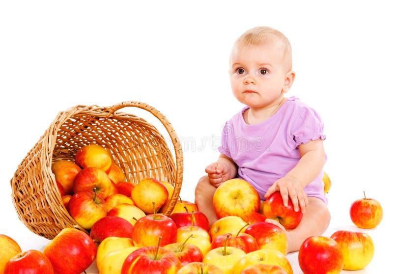 婴孩果子 库存照片