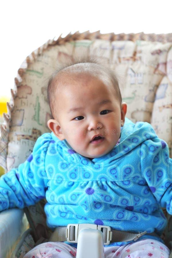婴孩椅子高一点设置 库存图片