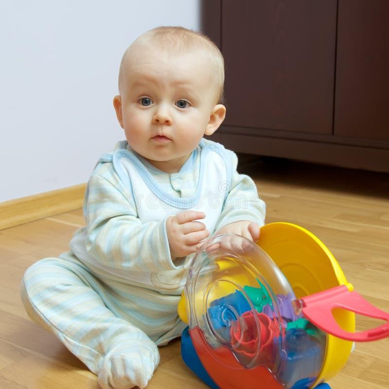婴孩楼层使用 免版税库存图片