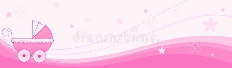 婴孩横幅女孩标头 向量例证