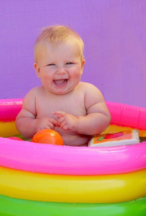 婴孩池 免版税图库摄影