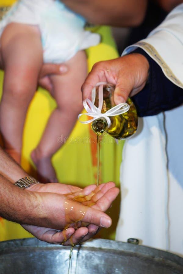 婴孩洗礼仪式 免版税库存图片