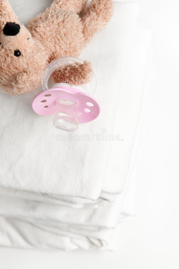 婴孩洗衣店soother 库存图片