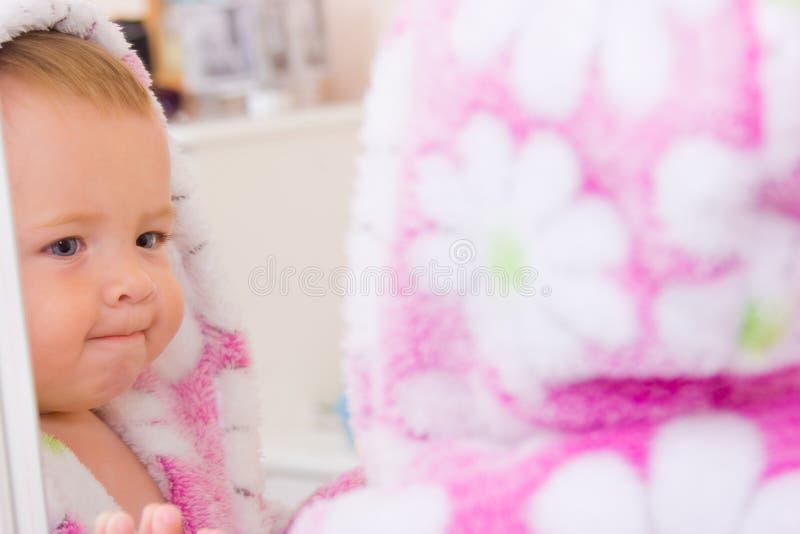 婴孩浴巾小特里 免版税库存照片