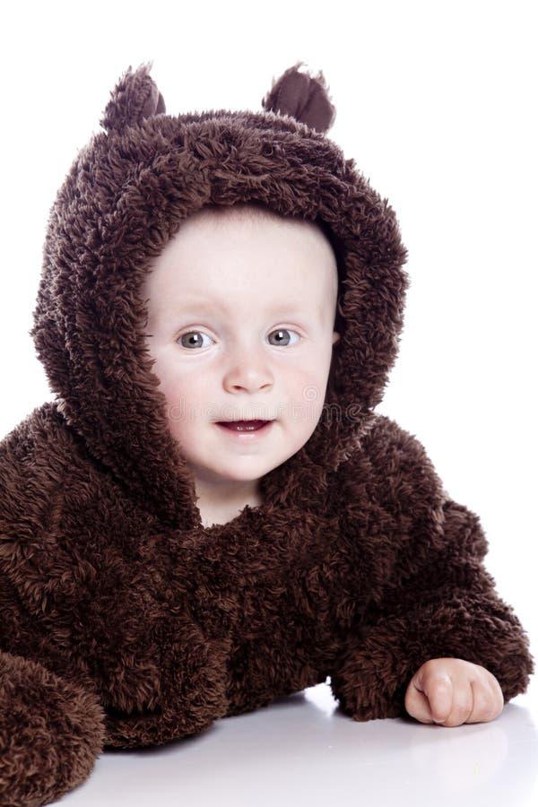 婴孩熊儿童女用连杉衬裤 免版税库存照片