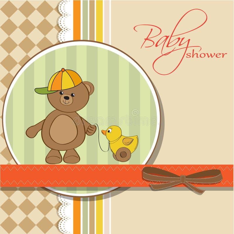 Download 婴孩熊男孩看板卡鸭子他的女用连杉&# 库存例证. 插画 包括有 生日, 婴孩, 抽象, 背包, 野蛮时代 - 22351318