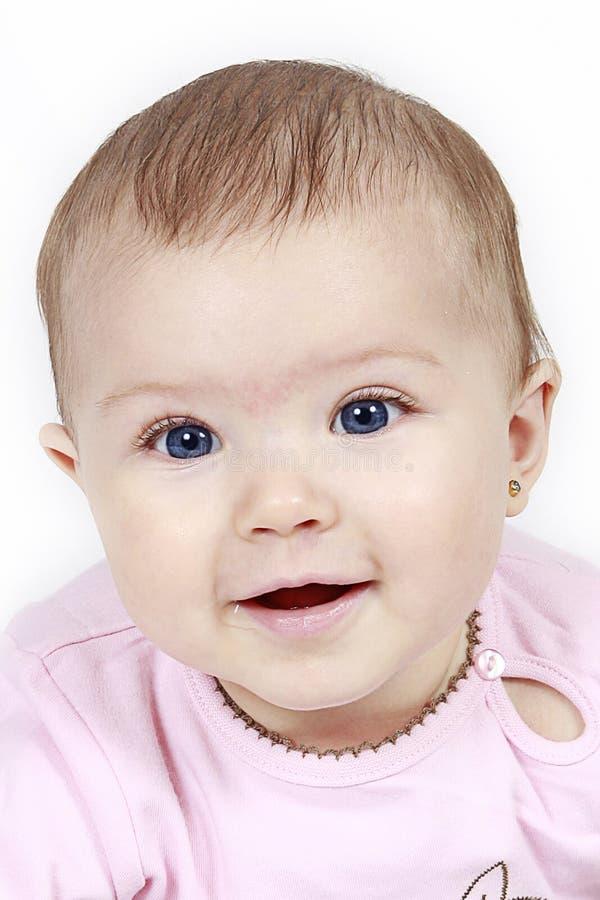婴孩特写镜头女孩被采取的一点 库存图片