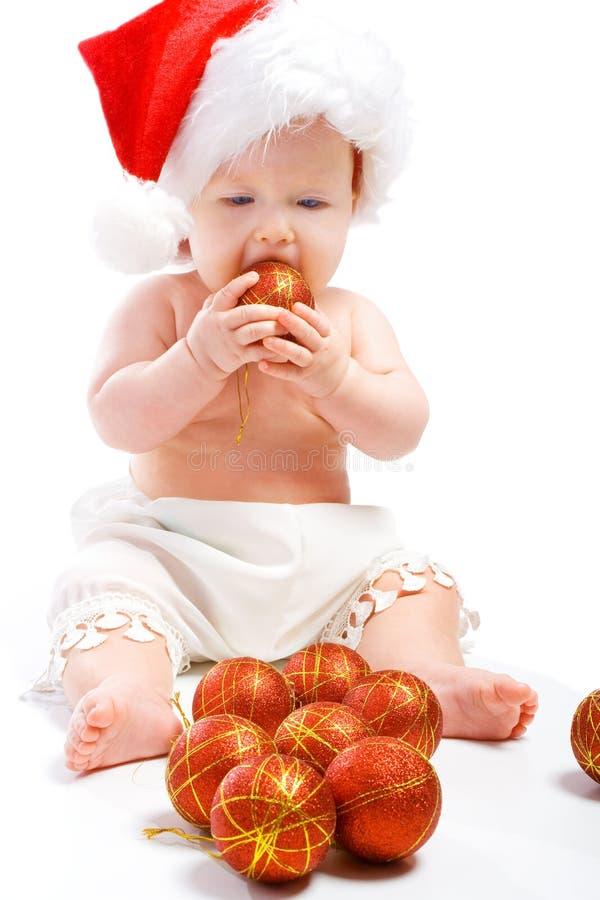 婴孩球圣诞节 库存照片