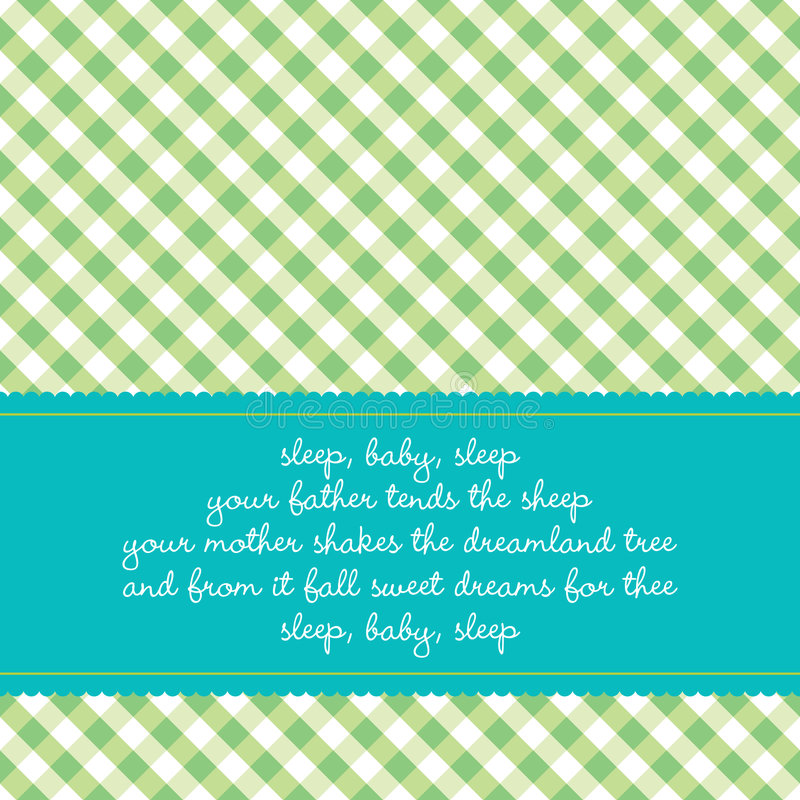 婴孩生日贺卡催眠曲 向量例证