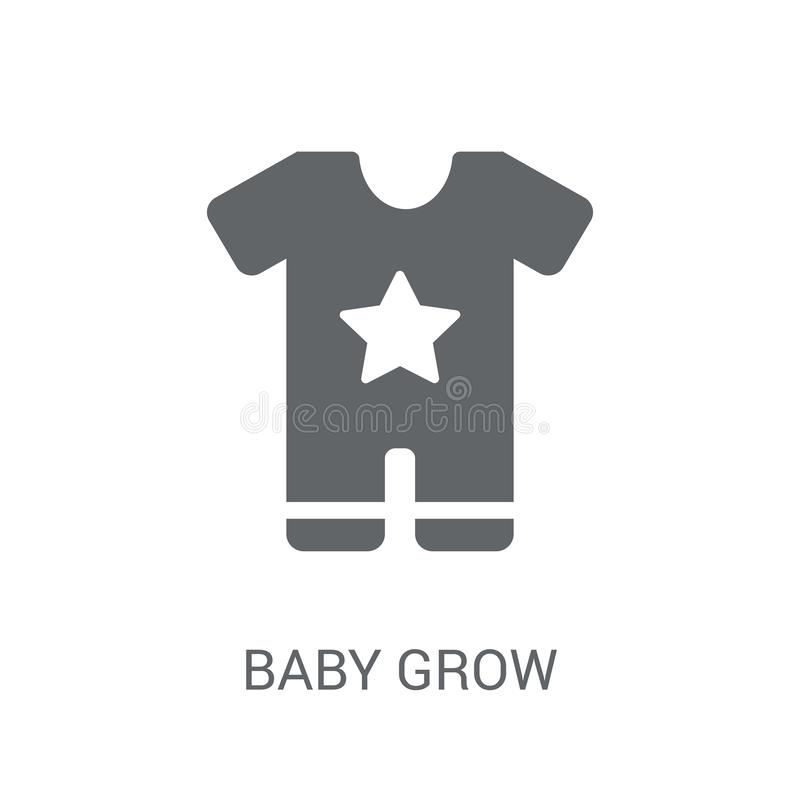 婴孩生长象  库存例证