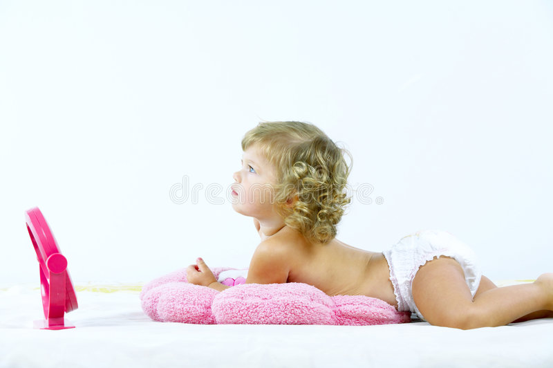 婴孩白色 图库摄影
