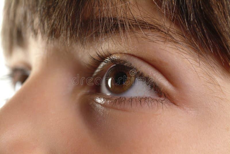 婴孩的眼睛 免版税库存图片