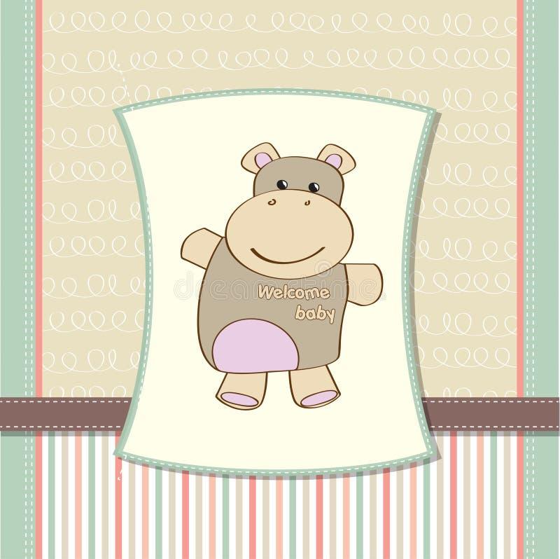 Download 婴孩看板卡幼稚河马阵雨 库存例证. 插画 包括有 问候, 生日, 情感, 活动, 逗人喜爱, 精美, 刚孵出的雏 - 22350518