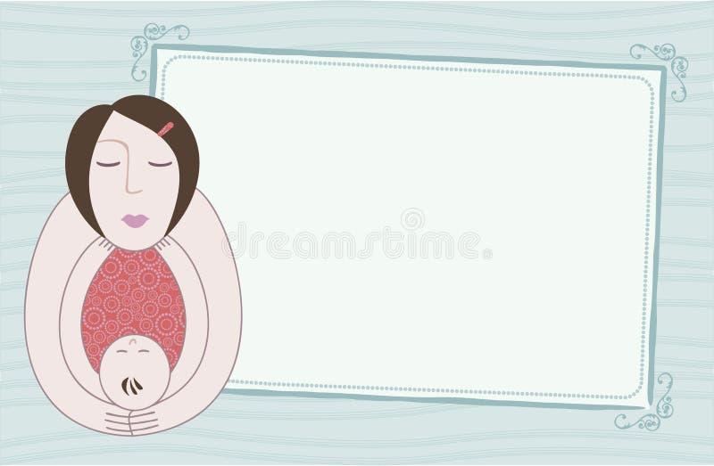 婴孩看板卡母亲 向量例证