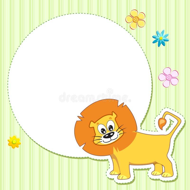 婴孩看板卡狮子 向量例证