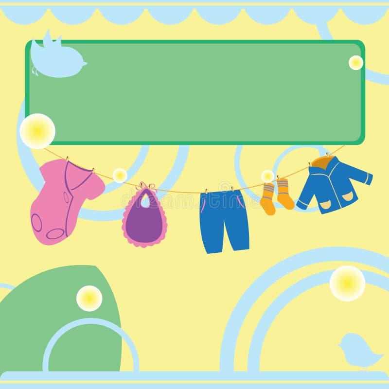 婴孩看板卡阵雨 库存例证