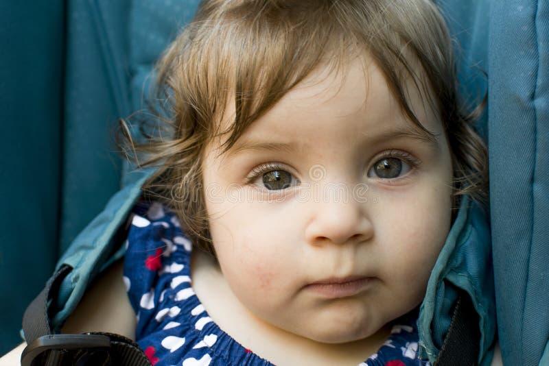 婴孩眼睛 免版税库存照片