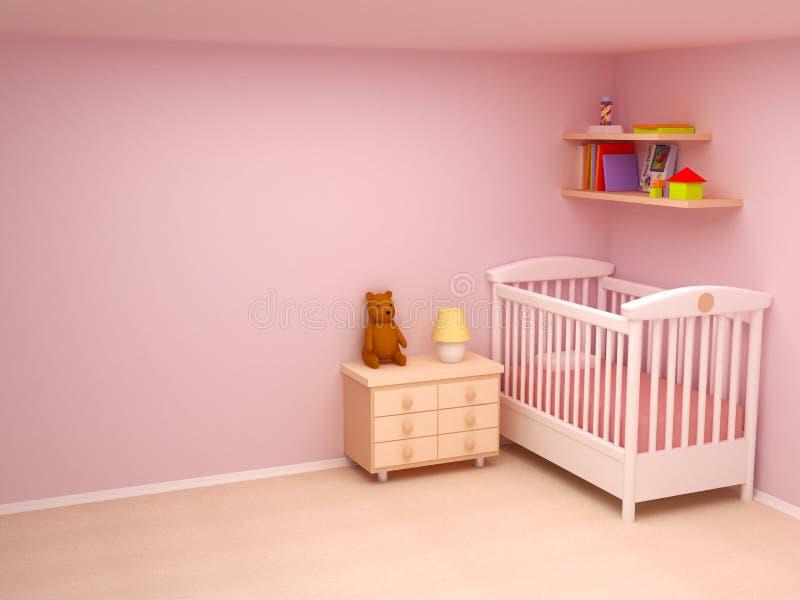 婴孩空间 皇族释放例证