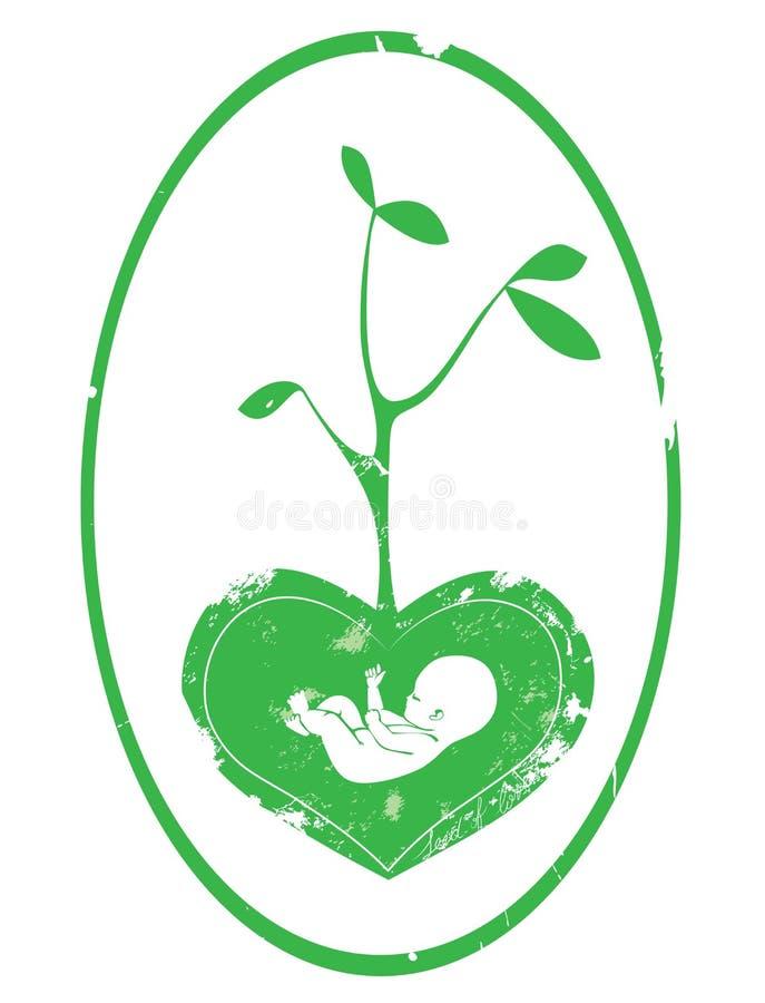 婴孩绿色 库存图片