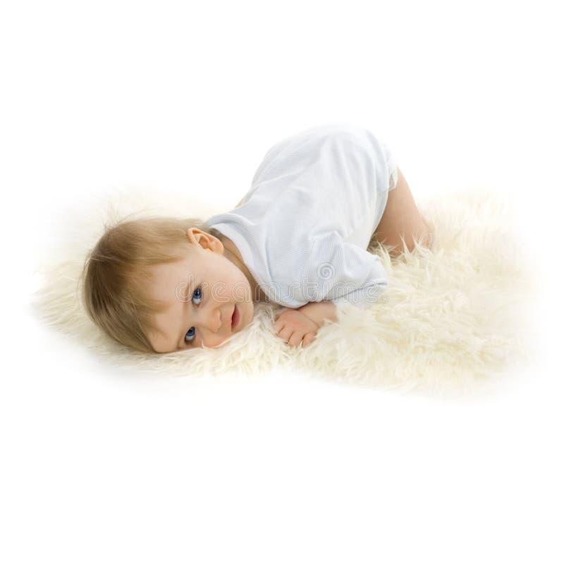 婴孩美丽的男孩 免版税库存图片