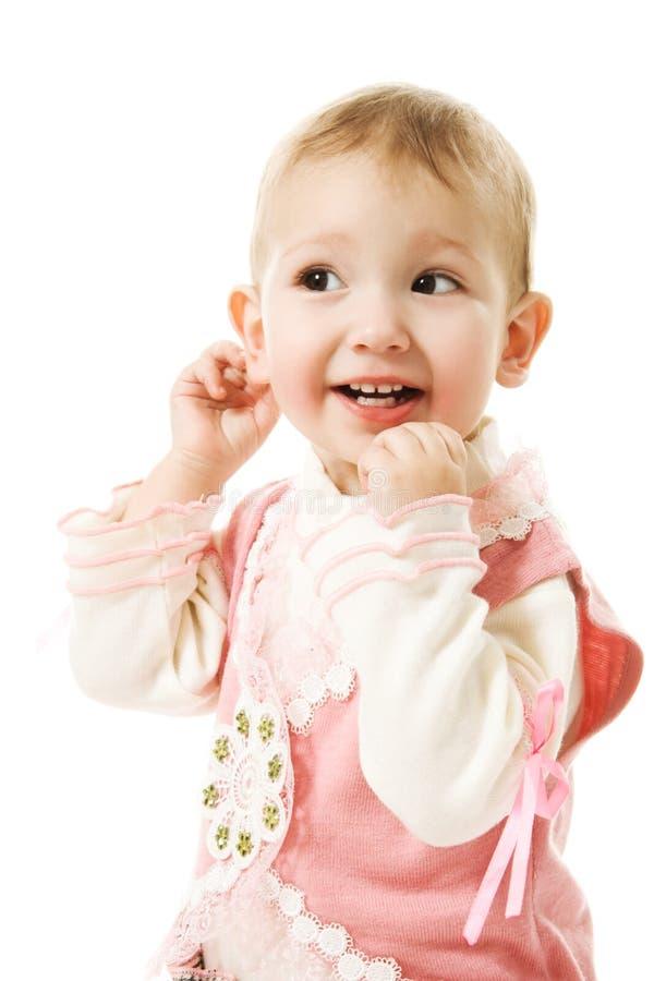 婴孩美好愉快微笑 免版税图库摄影