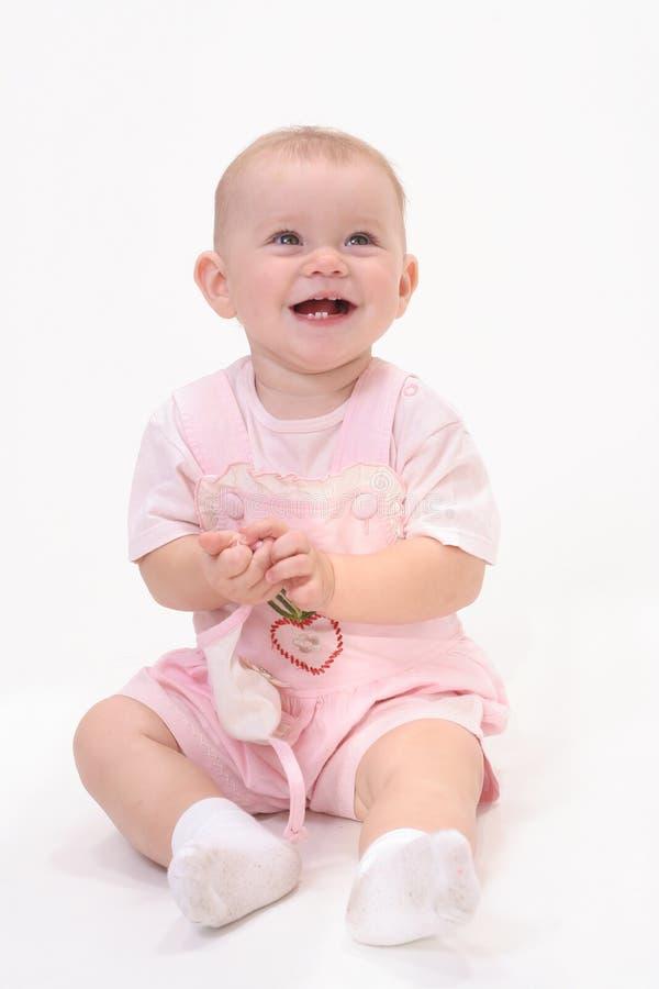 婴孩背景白色 免版税库存图片