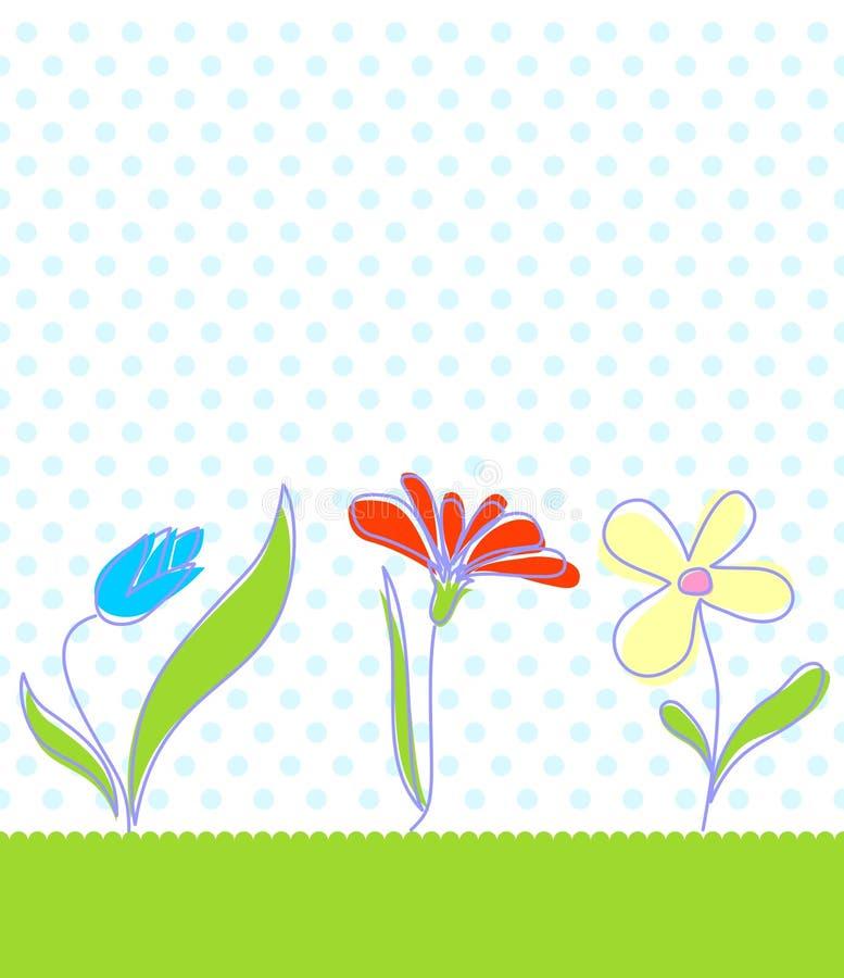 婴孩背景花卉无缝 库存例证