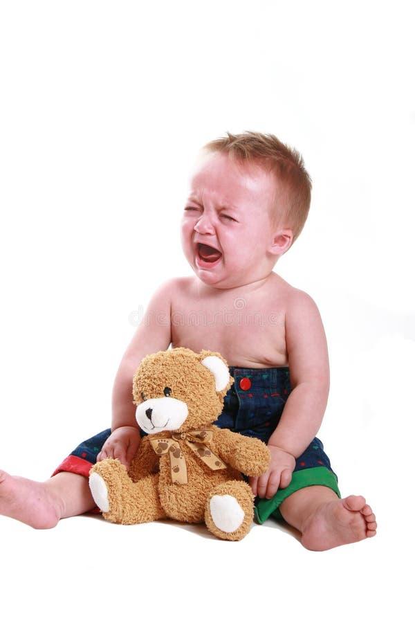 婴孩脾气 免版税图库摄影