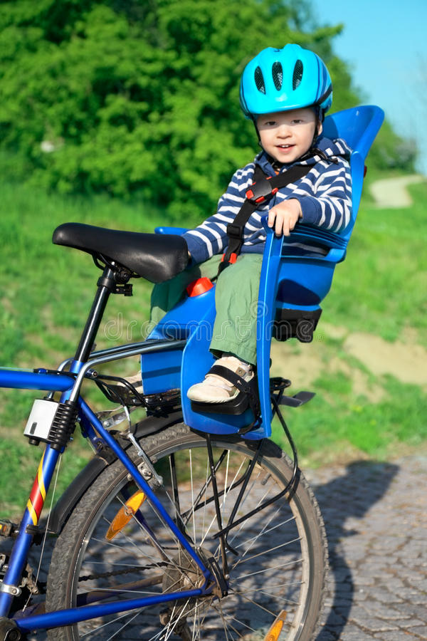 婴孩自行车椅子 库存照片