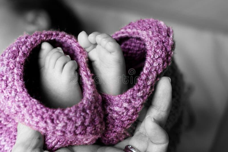 婴孩英尺 图库摄影