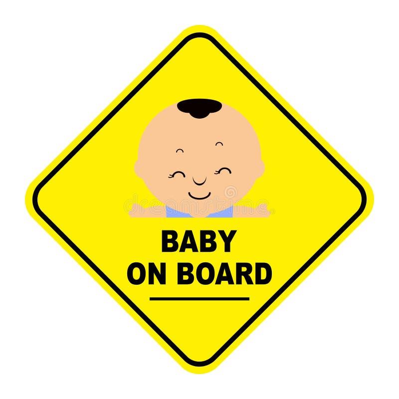 婴孩董事会符号 皇族释放例证