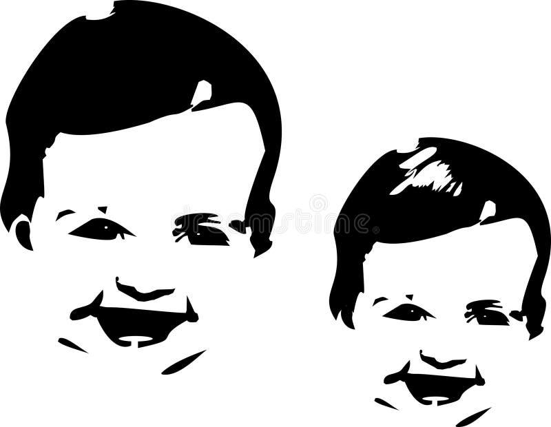 婴孩表面剪影 库存例证