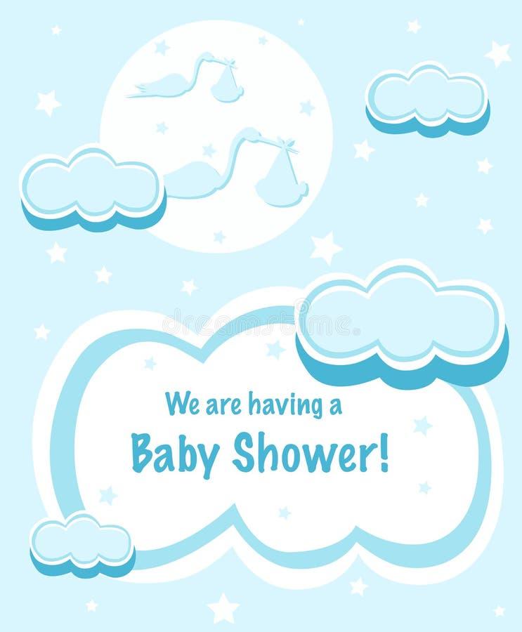 婴孩设计阵雨 库存例证