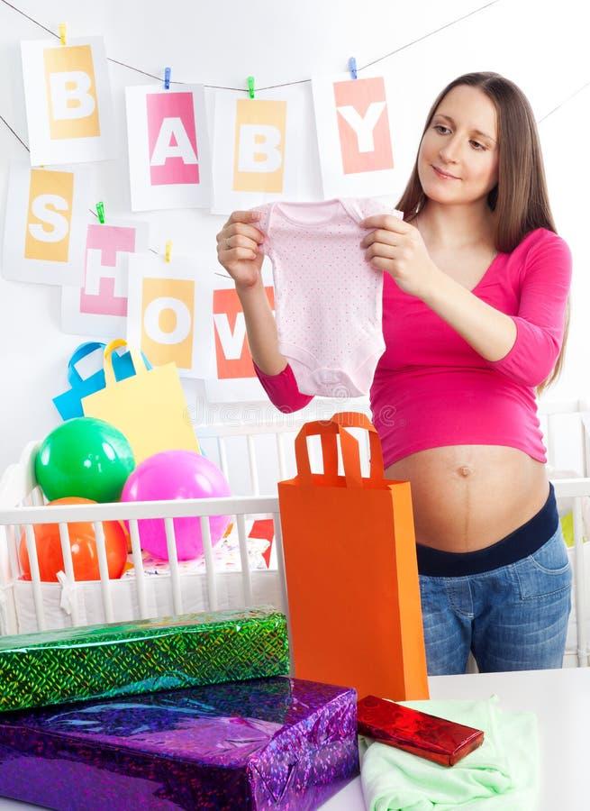 婴孩身体藏品阵雨 库存图片