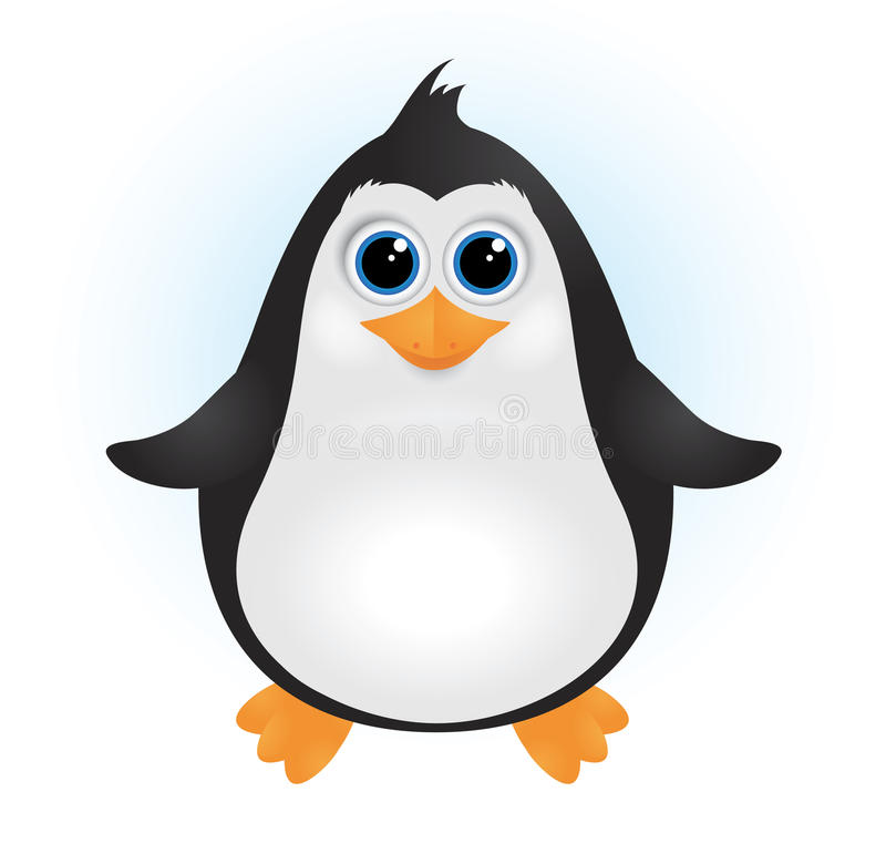 婴孩逗人喜爱的企鹅 库存例证