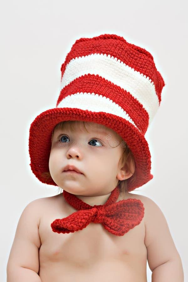 婴孩逗人喜爱的女孩一点 免版税库存照片