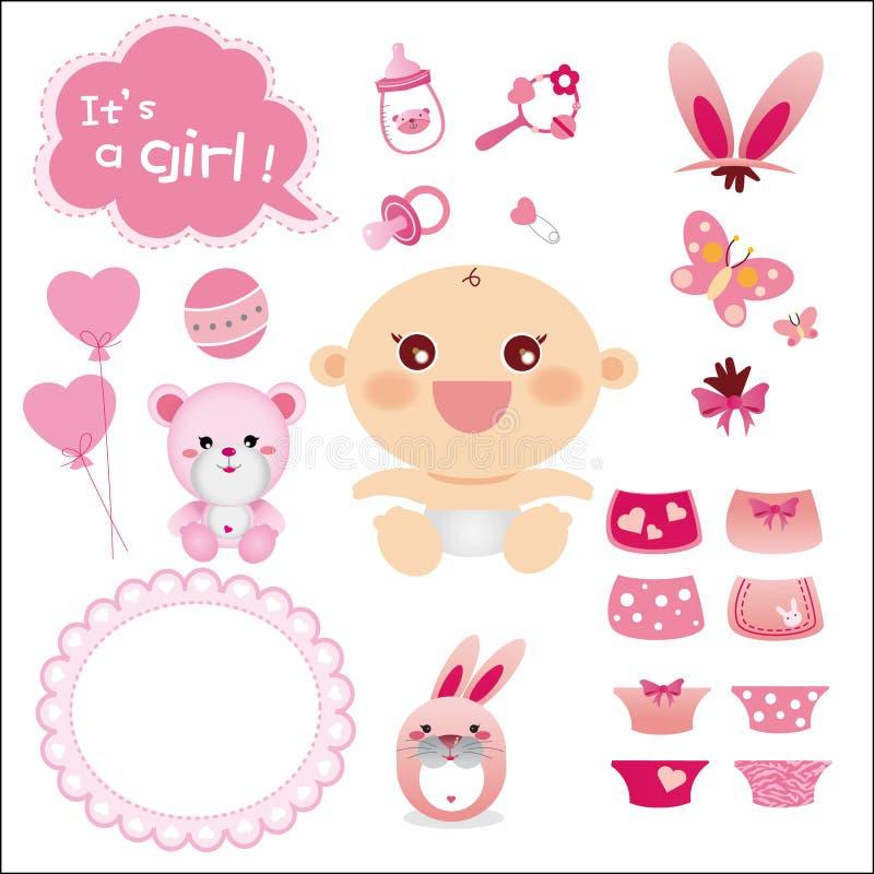 Download 婴孩逗人喜爱的女孩图象 向量例证. 插画 包括有 动画片, 生日, 子项, 衣物, 问候, bothy, 圣经的 - 22354899