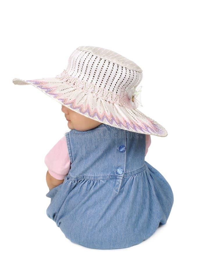 婴孩逗人喜爱的女孩帽子 免版税库存图片