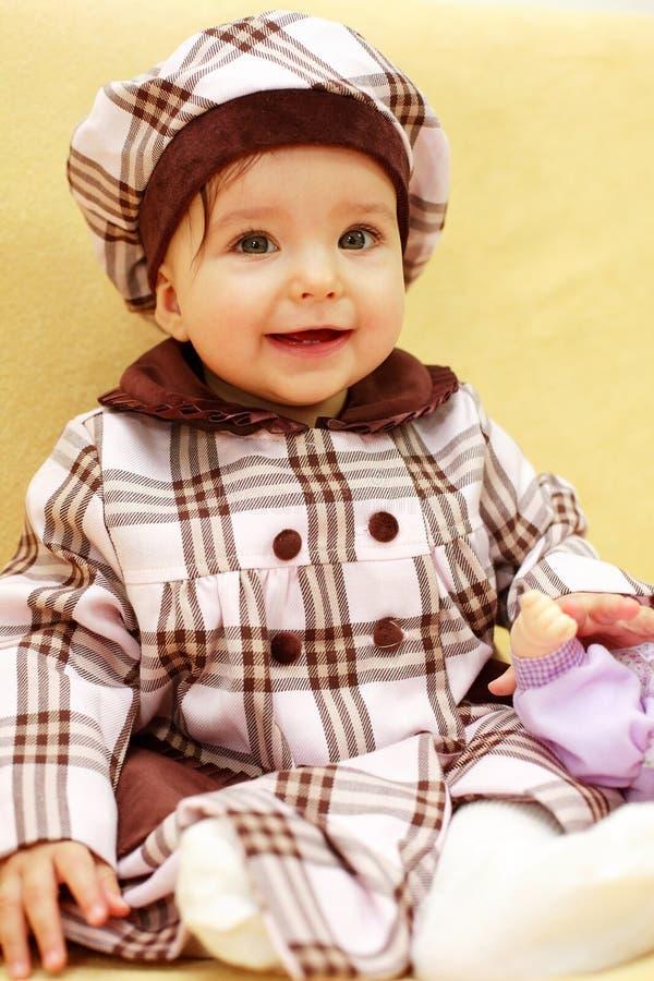 婴孩逗人喜爱的纵向 库存照片