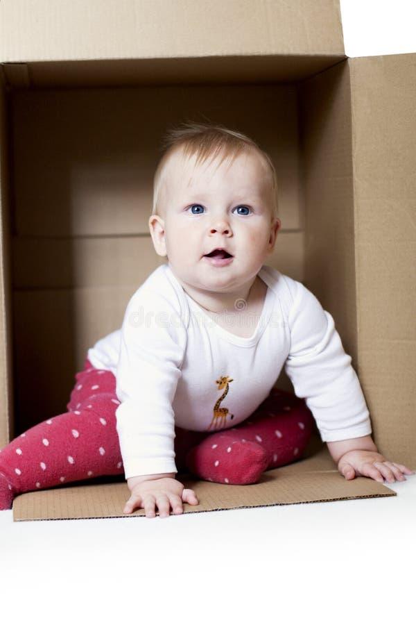 婴孩配件箱 免版税图库摄影