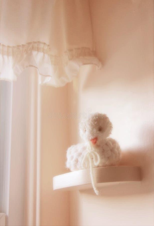 婴孩钩针编织的s玩具 免版税库存图片