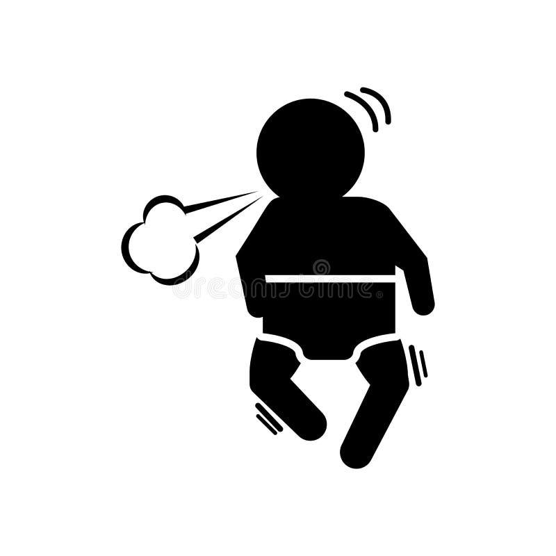 婴孩,咳嗽,呼吸的象 婴孩象的元素 皇族释放例证