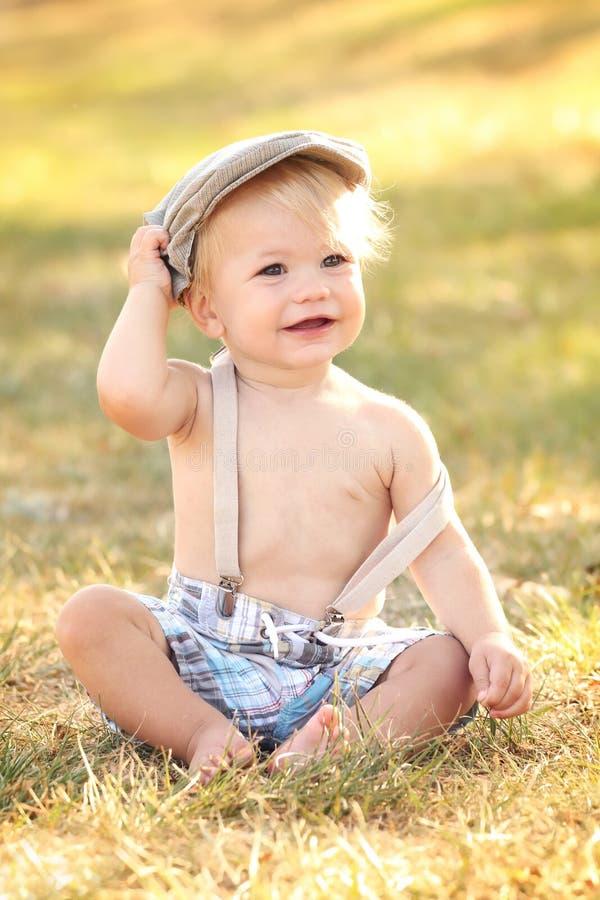 婴孩,秋天 免版税库存图片