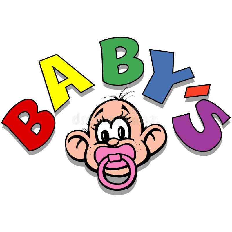 婴孩 向量例证