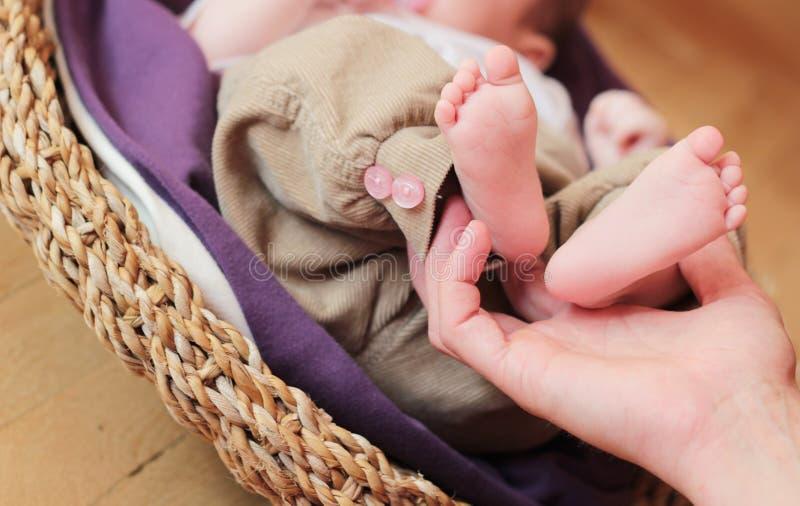 婴孩feets 免版税图库摄影