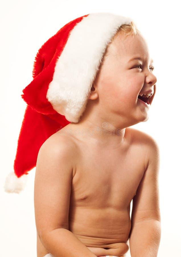 婴孩s圣诞老人 免版税库存图片