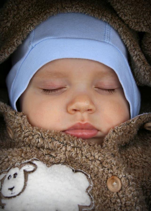婴孩sleepin 库存照片