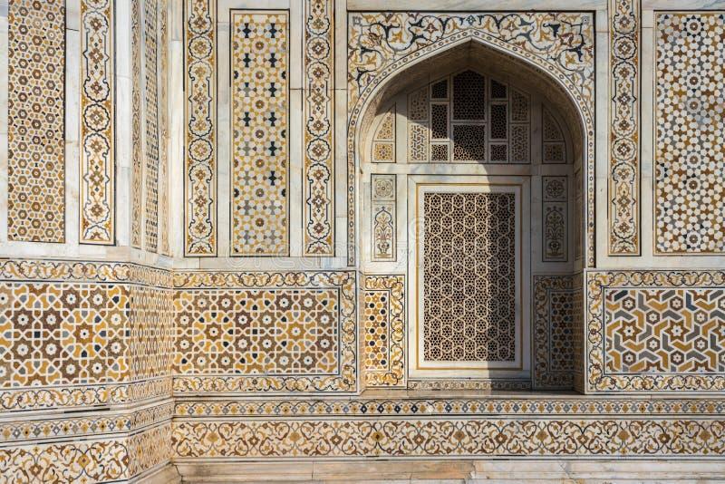 `婴孩Taj `陵墓门面在阿格拉,印度 免版税图库摄影