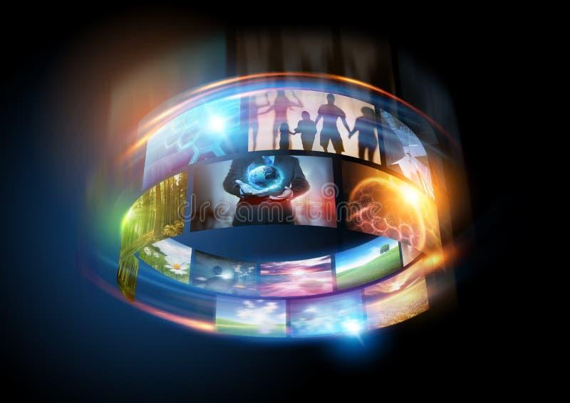 媒体世界 免版税库存照片