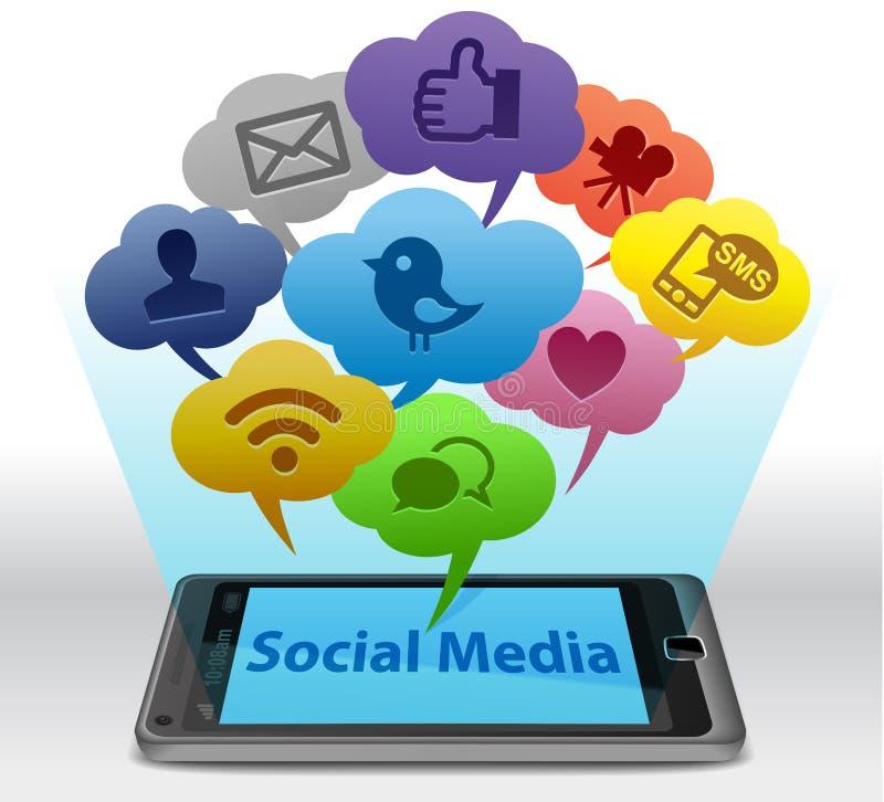 媒体smartphone社交 皇族释放例证